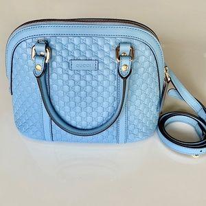 Gucci-Dome Microguccissima Mini Leather Cro, Blue